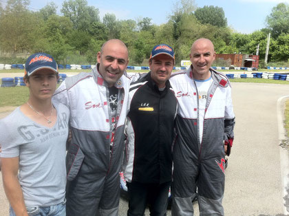 emission tv au karting la calmette