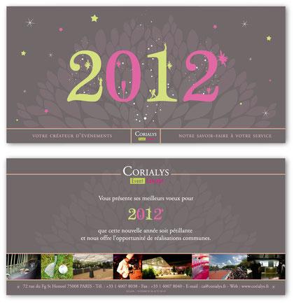 Carte de voeux design 2012