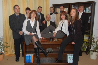v.l.n.r.: Kniefti, Lydia, Anny, Andreas, Matze, Katja, Hans, Anja, Regie, Daniel