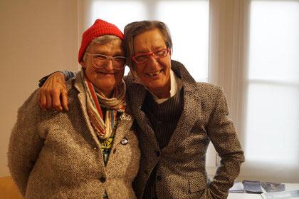 Bei der Vernissage der Landfahrer: Jean Lessenich und Maggie Töpfer. Foto: kuba Nettersheim