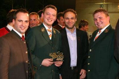 """Kärntner Löwe"" mit Bürgermeister Günter Vallant, Bez.Kap. Daniel Weinberger, Bez.Ob. Ing. Michael Ipsmiller, Obmann Ing. Gernot Koinig"