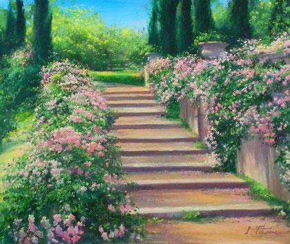 「花香る、丘の道」50x60.6cm