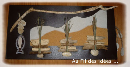 """Tableau """"Les Dunes"""" ... Format 30 x 60 cm - Création Janv/Fév 2011"""