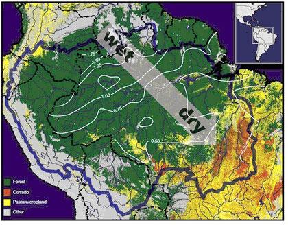 アマゾン川流域全体の気候のあらまし ― By Mongabay.com 2012年1月19日