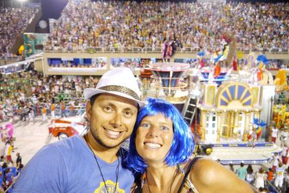 Dingo & Fudgie in the Sambodromo, Rio de Janeiro during Carnaval (click to zoom)