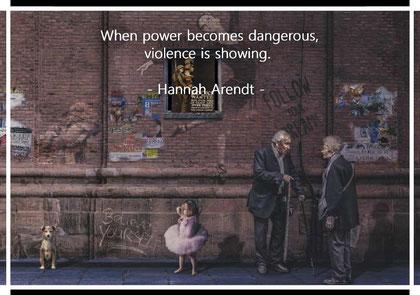 暴力は権力が危うくなると現れてくる。