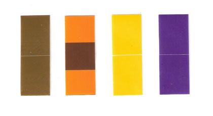 Etiquetas en poliester con franjas para identificar tuberias o bandejas