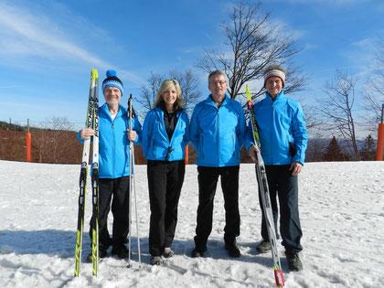 Die vier Übungsleiter der Abteilung Ski-Langlauf für geistig behinderte Menschen