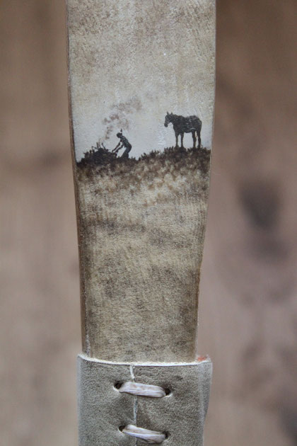 "Caja Wolf ""Indianer"" Acryl, 2009"