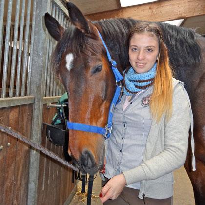 Chiara reitet wieder Rigo das erste Mal nach Ihrem Kanada-Aufenthalt, 28.02.2013: