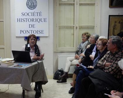 Françoise Waro, présidente de la Société historique de Pontoise