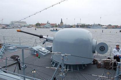 Geschütz OTO Melara 76 mm - Bild: Rudi Hansen