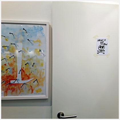 Schlagfertigkeit auf der art Karlsruhe 2018 und ein kleiner Hinweis auf Boris Brumnjak. PRINT IS NOT DEAD! Dank an gallery print!