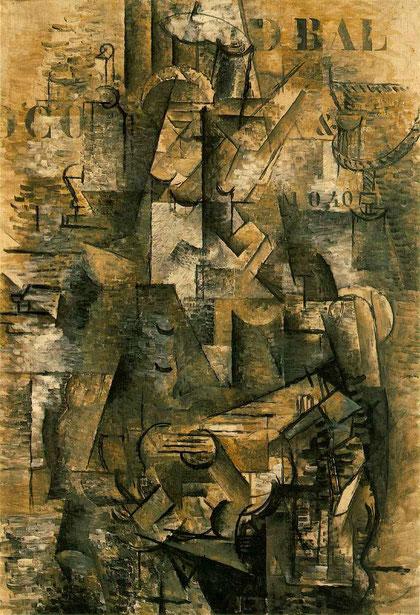 """Georges Braque, """"Le portugais"""" (1911-12)"""