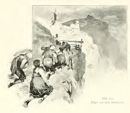Pilger auf dem Dobratsch im Jahr 1896