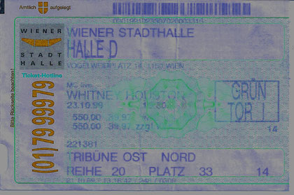 Whitney Houston Wiener Stadthalle 23.10.1999