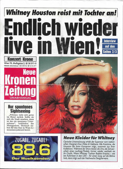 Whitney Houston, Wien, Stadthalle