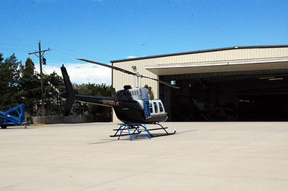 The Long Ranger at Century Helicopters in Fort Collins, getting scheduled maintenance