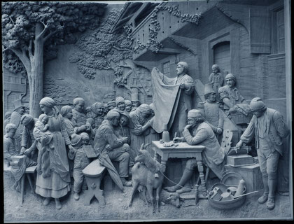 Holz-Reliefschnitzerei. Paul-Peter Stähli Brienz 1910