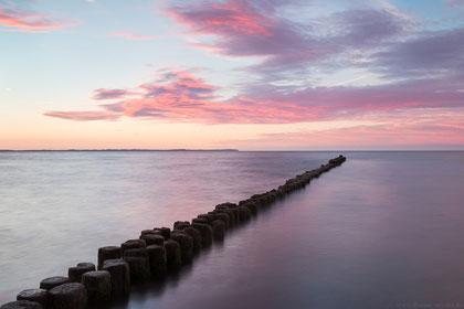 Sonnenuntergang über der Ostsee bei Glowe (Rügen).
