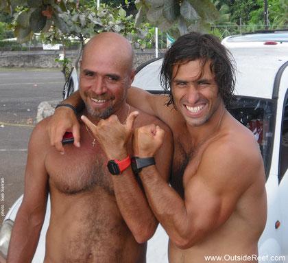 Arsène Harehoe et Peyo Lizarazu (photo : Seb Sarrailh)