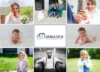 Flyer mit Leistungung von Liebglück Fotografie Rudersberg