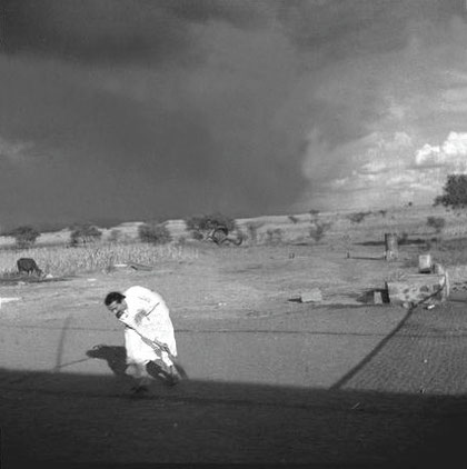 July 1935 - Playing cricket at L. Meherabad, India - Courtesy of MSI Collection