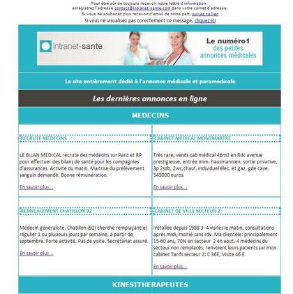 Lettre d'information intranet santé
