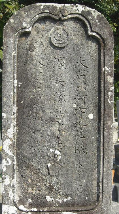 源五(吾)郎の銘 大石外記系(源五郎の嫁いだ娘の家系) - 磐田市