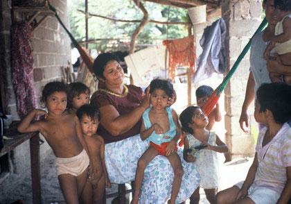 Einheimische Familie in Juchitan