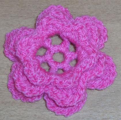 Häkelblüte - mehrlagig