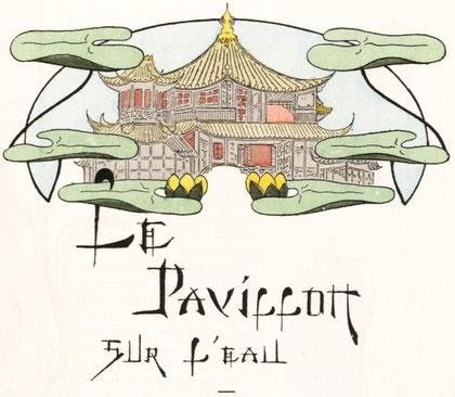 Théophile Gautier, Le pavillon sur l'eau. Ferroud, Paris, 1900. Compositions d'Henri Caruchet. Préface de Camille Mauclair.