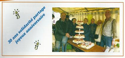 Une photo parue dans le bulletin municipal de Villeneuve-le-Comte, à l'occasion des 30 ans de l'association