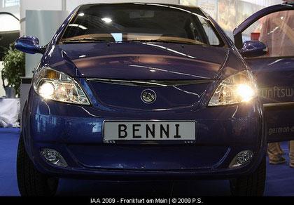BENNI ELEKTROAUTO DER FRÄGER GRUPPE, German E Cars