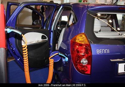 Strom Tanken - Benni Elektroauto der Fräger Gruppe - German e cars