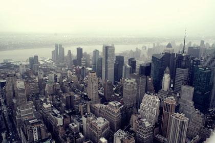Die Aussicht auf New York City
