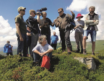 Eine internationale Delegation besucht das Swydowets-Massiv