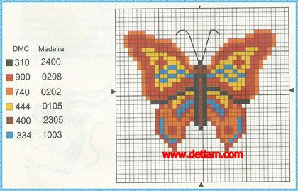 """Схема для вышивания:""""Бабочка"""""""