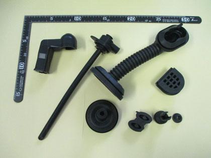 多様な形状の製品