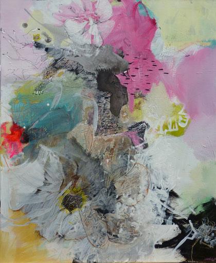 """""""Turtle Reine"""" Acrylique sur toile Dim 92cmx73cm"""