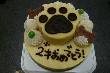 今年はスイートポテトのお誕生日ケーキだよww