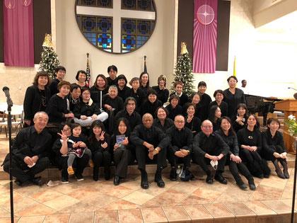 国際クリスマス礼拝参加時の集合写真