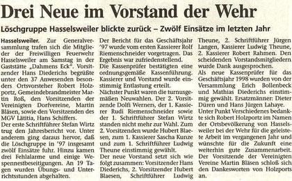 Jülicher Zeitung vom 29.01.1998
