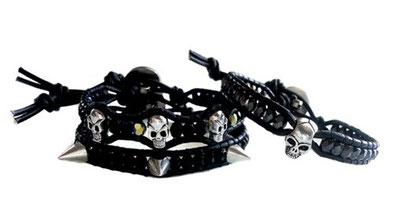 Version Skulls ou Spikes, Bracelet 1 tour à retrouver sur la page 'SKULLS & Co'