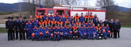 Bestandene Jugendflamme in Schaufling mit 64 Anwärtern am 11.04.2010