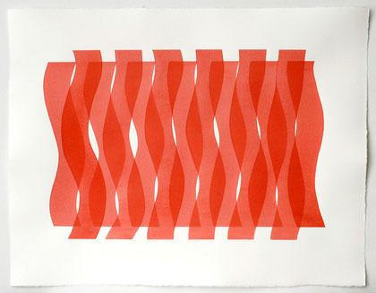 Überlagerung 3, 2012 I Tusche auf Bütten I 50 x 65 cm