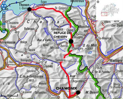 stage GR5 Thonon-Chamonix