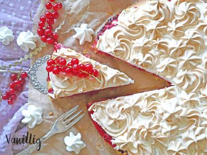 Kuchen, Johannisbeere, JohannisbeerKuchen, Kuchen mit Johannisbeeren, Baiser, Johannisbeerkuchen mit Baiser