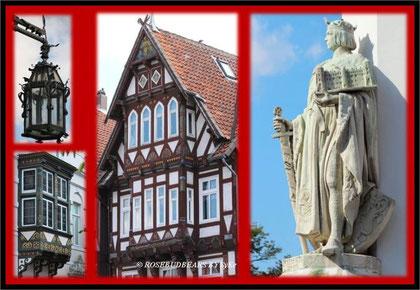 Celles Altstadt und der Stadtgründer Herzog Otto, der ein Schloss festhält, dass es zu seinen Leibzeiten in dieser Form gar nicht gab - Künstlerfreiheit