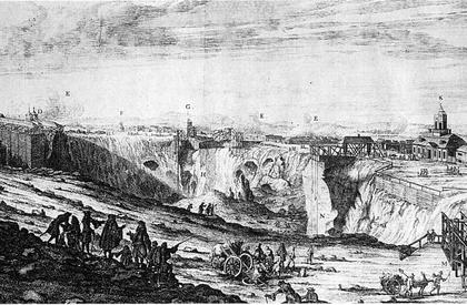 ファールンの銅鉱山の眺望
